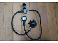 U.S. Divers Conshelf SE2 diving regulator and contents gauge