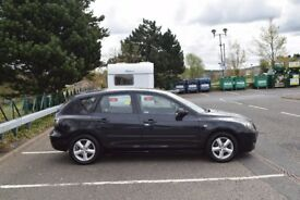 mazda 3ts 5 door hatchback,black 1598cc,petrol,