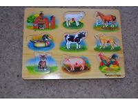 MELISSA & DOUG FARM SOUNDS PUZZLE - 8 REALISTIC FARM ANIMAL SOUNDS