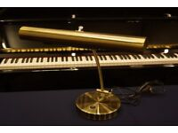 New high quality brushed brass large piano lamp