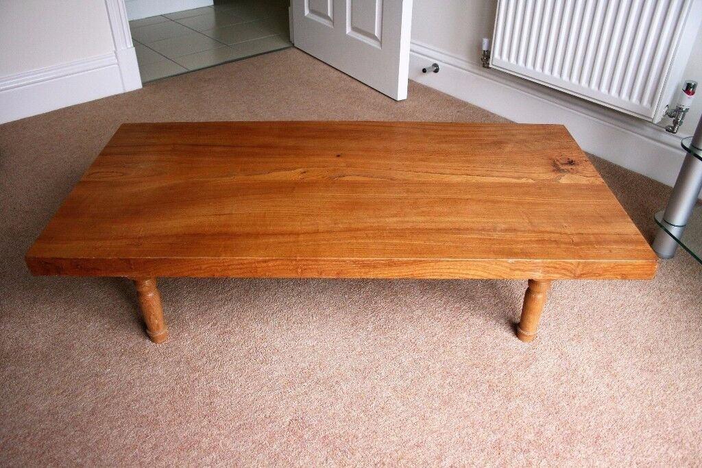 Solid Walnut Rectangular Wooden Coffee Table.