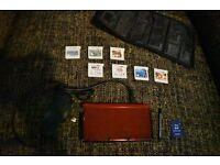 Red Nintendo 3DS bundle( see description below)