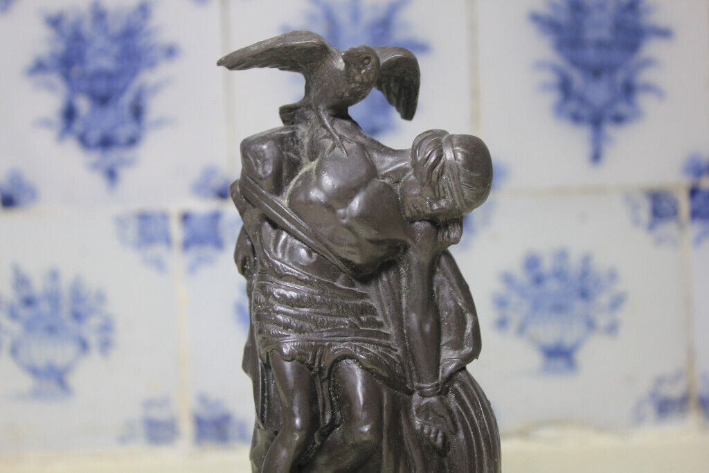 Vintage Genesis Irish Cold Cast Bronze Figurine The Death Of