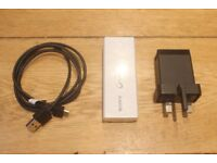 FAST-CHARGE Sony 3000mAh Compact Portable Power Bank Charger (+ FREE Sony wall charger + USB cable)