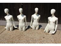Mannequin Joblot of 4 female mannequins
