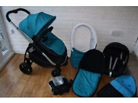 iCandy Strawberry 2 pram travel system 3 in 1 - Blue **can post**
