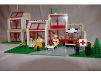 LEGO Town Emergency Treatment Centre (6380) (Vintage) with extra hospital wing