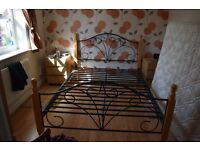 Double wrought Iron effect bed stead
