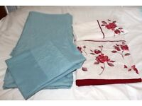 Two Single Embroidered Duvet Set Covers Come in VGC