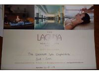 Gift Voucher £99,- for The Laguna Health & Spa Cardiff