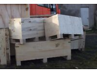 Plywood boxes for sale.