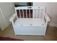 Childs Nursery Bench with underseat box.