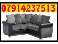 THIS WEEK SPECIAL OFFER SOFA BRAND NEW BLACK & GREY OR BROWN & BEIGE HELIX SOFA SET 6508