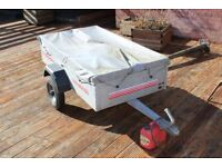 Cady trailer 360kg with spare wheel and cover