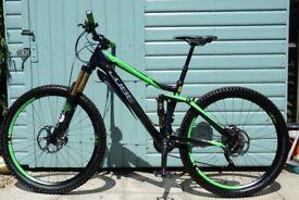 "CUBE STEREO 140 SUPER HPC SL Full Suspension 27.5 Carbon Mountain Bike Size Medium 18""/46cm"