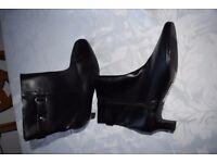 Ladies Black Ankle Boots Size 7