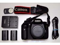 Canon EOS 7D Digital SLR Camera Body, Batteries, Charger, Wired and Wireless Remotes.