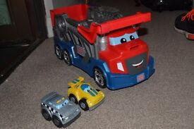 Mega Bloks Tiny N Tuff Race N Chase Rig Excellent Condition
