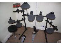 Yamaha DTXPRESS Electronic Drum Kit + Headphones + Manual + Stool + Sticks + PAT Tested Power Supply