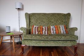 Parker Knoll Penshurst Vintage two seat wingback sofa