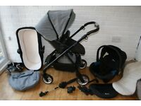 Silver Cross Wayfarer Special Edition grey Eton pram with car seat 3 in 1 ___can post____