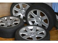 "17"" Alloy wheels and tyres - 5 stud with the studs"
