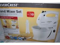 SILVER CREST BRAND NEW CAKE MIXER WITH ALL FITTING