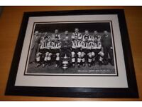 Newcastle united framed photo. FA Cup win. vintage photo.