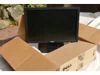 Dell LED (E1709W) 16 inch desk top monitor.
