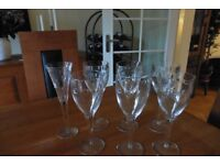 Waterford Crystal Wine Glasses, of the John Rocha GEO design.