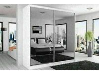 Our products are the best-BERLIN 2&3 SLIDING DOORS WARDROBE IN 5 SIZES & IN MULTI COLORS