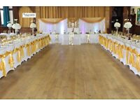 Hire white/Black spandex chair cover with free sash for just 99p