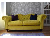 Joules WINDSOR: Velvet 3 Seater Sofa
