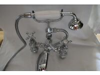 Victorian style bath mixer taps and single sink taps