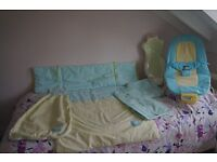 MAMAS & PAPAS Bouncer Chair,Bath Seat,Nappy Stacker,Sleep Bag,Cot Quilt + Bumper + Cot Valance £20