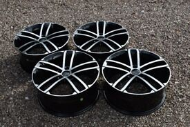 "18"" VW Golf GTD Nogaro Style Alloy Wheels Mk5 Mk6 MK7 Audi A3 2nd Gen Brand New Boxed Black Polished"