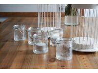 50 Decorative Glass Tea Light Holders with tea lights for sale