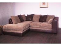 💖💥💖Left/Right Hand Orientation💖💥💖 Brand New Byron Jumbo Cord Corner Or 3+2 Seater Leather Sofa