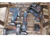 Bosch power tool kit . 10,8 v Li-lon . drill , saw .multi tool .slitter ,charger