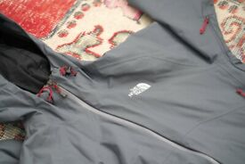 Mens The North Face Stratos Jacket Size Small S Grey Red 🇬🇧 FREE UK SHIPPING