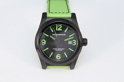 acQuatech ITALY Armbanduhr  All Edelstahl Robustes Lederband 10ATM UVP: 380€ (Robuste Uhr)