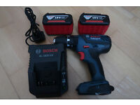 bosch GSB 18-2 li plus cordless combi hammer drill two 3.0ah batteries and charger
