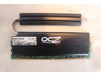 DESKTOP RAM, 1GB, OCZ REAPER, HPC (HEAT PIPE CONDUIT), 240PIN, DDR2 SDRAM, 1066Hz (PC2 8500)