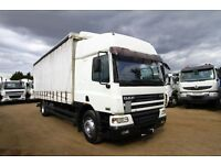 2004 DAF CF65.250 4X2 CURTAIN SIDER ON STEEL SUSPENSION SLEEPER CAB TIPPER FOR SALE IN AFRICA LONDON