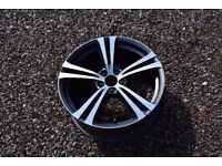"Single Genuine 19"" Volvo V40 T5 R Design Alloy Wheel 31400721-TB 31445398-BL"