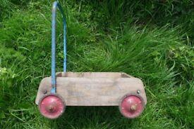 Vintage and Original Wooden Tri-ang / Triang BABY WALKER / BABYWALKER. Ideal for restoration.