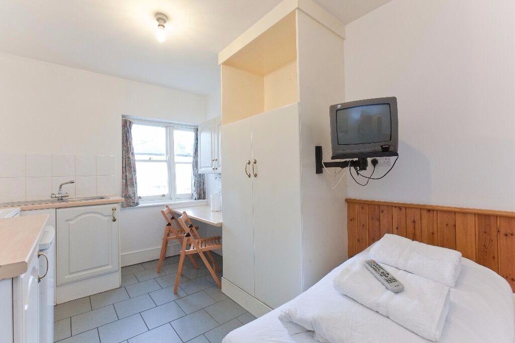 Studio Swiss Cottage for Short Lets £320 per week all bills included