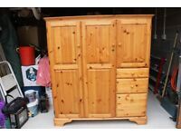 Ducal pine computer cabinet