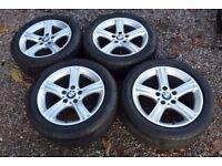 "Genuine 17"" BMW 3 Series F30 F31 Alloy Wheels 225/50R17 Run Flat Tyres Style 393"
