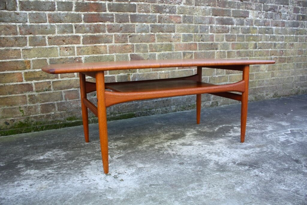 Arrebo mobler danish modern teak mid century coffee table for 60s coffee table